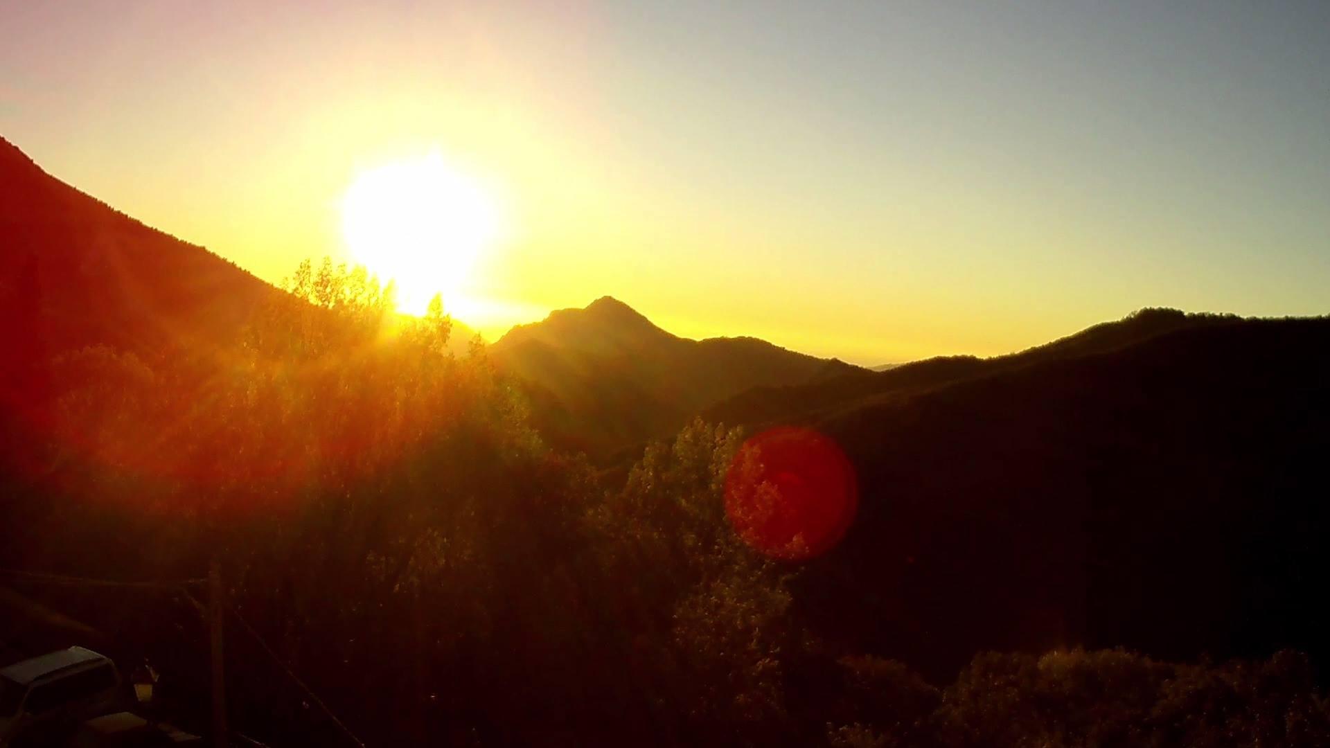L'alba di questa mattina